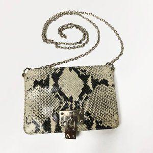 Alexis Hudson Queens Mini Snakeskin Crossbody Bag